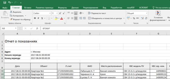 Отчеты для 1С и ГИС ЖКХ